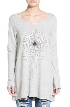 Project Social T 'Earth Arrow' Oversize Sweatshirt available at #Nordstrom