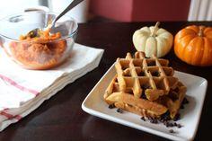 Pumpkin Chocolate Chip Waffles:  http://sweetstacks.com/pumpkin-chocolate-chip-waffles/