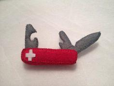 Schweizer Taschenmesser aus Filz von mimimade1 auf Etsy