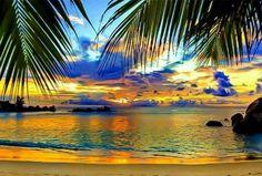 Beautiful sunset in paradise.