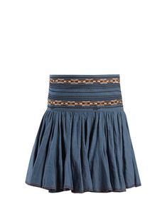 Click here to buy Isabel Marant Étoile Breeda embroidered gathered cotton skirt at MATCHESFASHION.COM