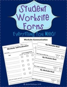 $ Life Skills Student Vocational Forms- Worksite self-evaluation, staff evaluation, goal setting and more!