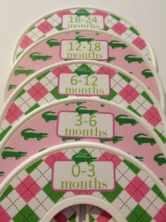 On Sale 5 Custom Baby Closet Dividers Organizers - Baby Girl Infant Christmas…