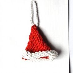 crocheted santa hat