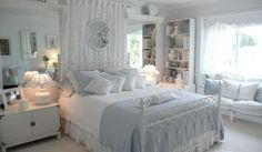 Cozy White Bedroom Design Ideas With Windows Seat And Table Lamp Cool Decorating White Bedroom For Your Inspiring