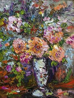 Heirloom Roses Still life Fine Art Modern Impressionist Original Oil Painting by…