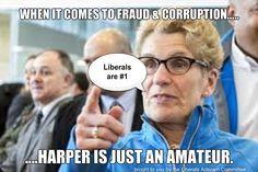 Wynne says Harper is an Amateur #onpoli #canpoli