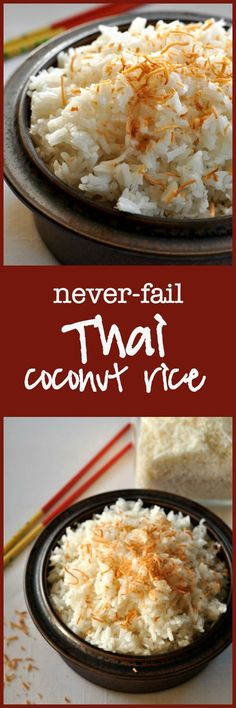 No more sticky rice! This Thai Coconut Rice turns out perfectly every time. So easy! Made with Jasmine rice, this dish has a subtle coconut flavour. via @enessman