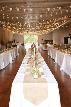 THIS!! Lights AND Bunting!! Photography By / imagovitaphotography.net