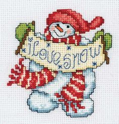 Ornaments Galore - Trim the tree and deck the wall with 50 cross stitch designs for Christmas ornaments by Ursula Michael. There are snowmen, gingerbread folk, bears, a dog, a cat, Baby's first Christmas, Santas, a tree, angels, Nativity figures, stockings, a star, reindeer, snowflakes, a hat, a mitten, a wreath, a gingerbread house, a rocking horse, and holiday greetings. Includes a backstitch alphabet and numbers for personalizing. Large, easy-to-read black-and-white charts with red…