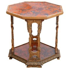Maison Franck Red Tortoise Tea Table | From a unique collection of antique and modern side tables at https://www.1stdibs.com/furniture/tables/side-tables/