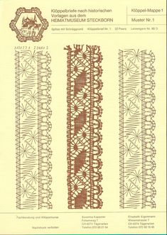 Online shopping from a great selection at Arts, Crafts & Sewing Store. Hairpin Lace Crochet, Crochet Edgings, Crochet Motif, Crochet Shawl, Bobbin Lacemaking, Bobbin Lace Patterns, Bead Loom Patterns, Lace Jewelry, Lace Earrings
