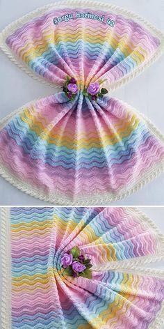 Crochet Ripple Stitch - Free Patterns and Inspiration | Crochetpedia Crochet Blankets, Crochet Blanket Patterns, Baby Blanket Crochet, Crochet Hooks, Crochet Baby, Free Crochet, Knit Crochet, Simple Pattern, Free Pattern