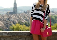 Pink and stripey.