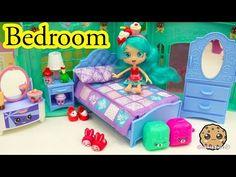 Shoppies Doll Jessicake Bedroom + Shopkins Season 5 Blind Bag Unboxing - Cookieswirlc Video - YouTube