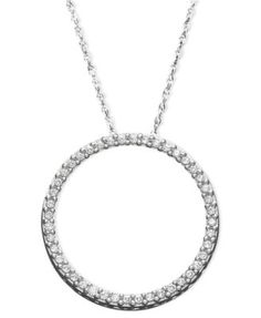 6b60a72413ed Diamond Circle Pendant Necklace in Sterling Silver (1 10 ct. t.w.)   Reviews  - Necklaces - Jewelry   Watches - Macy s