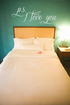 Wall Quotes Vinyl Decal, Bedroom Decal P.S. I Love You on Etsy, $19.00