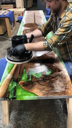 """Get Instant Access To Dozens New Cool FREE Woodworking Plans at our website above ( if you use your phone just click """"Visit"""") Diy Resin Table, Epoxy Wood Table, Epoxy Resin Table, Epoxy Resin Art, Diy Resin Crafts, Diy Home Crafts, Wood Crafts, Diy Furniture Videos, Resin Furniture"""
