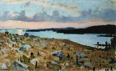 'Woodland Clearing on the Shores of Lake Kallavesi', Oil On Canvas by Akseli Gallen Kallela (1865-1931, Finland)