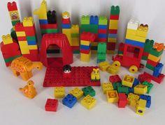 Lego Duplo Building Blocks Parts Huge 140+ Piece Lot  People Animals #B #LEGO