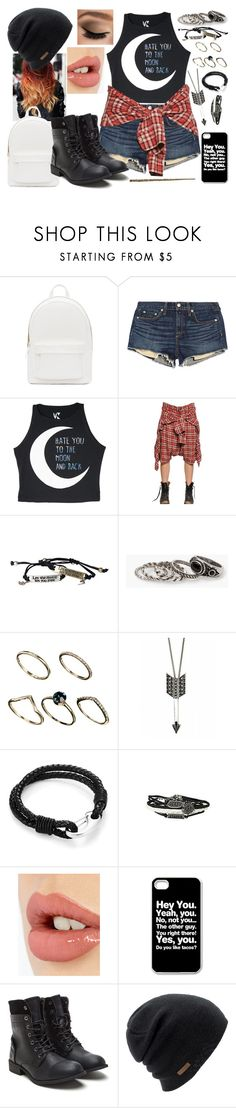 """""""Hate you to the moon and back."""" by lemonade0007 ❤ liked on Polyvore featuring PB 0110, rag & bone/JEAN, R13, MANGO, ASOS, House of Harlow 1960, Charlotte Tilbury, Coal, women's clothing and women"""
