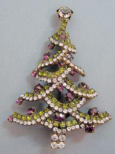 Stanley Hagler of NY Christmas Tree Brooch.