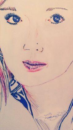 Kendra~ pen & ink~ by Jaycien Bagwell 2013