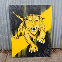 🖋  Handpainted Custom Artwork 📐 Designed: Painted by Set It Off 📍  Located in Melbourne 🎨 100% Spray Paint on canvas 📏 140cm x 90cm 🙏 Private Collection  To get something similar, let's get in touch!