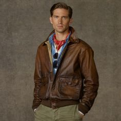 009415597 polo ralph lauren leather a2 bomber jacket
