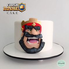 Torta Clash Royale Medellín - cake by Giovanna Carrillo Pretty Cakes, Beautiful Cakes, Torta Clash Royale, 16th Birthday Outfit, Royal Cakes, Dad Cake, Star Cakes, Cupcakes, Character Cakes