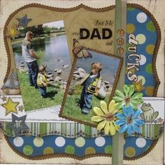 Just me and my #Dad and the ducks, #boy #scrapbook | http://scrapbookphotoshenderson.blogspot.com