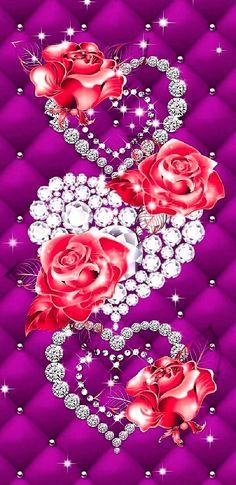 Love Wallpaper Backgrounds, Wallpaper Iphone Love, Galaxy Wallpaper, Wallpapers, Love Heart Images, Purple Love, Cool Designs, Roses, Bling