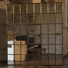 miroir fenetre multi casiers style factory