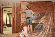 I LOVE Brick! Especially inside of a home. Our first home was a simple ranch style home, no bells and whistles. But, it had a brick kitchen. That pretty much did it for me. It was not a cookie c…