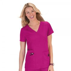 From the designers of Koi Scrubs, Orange Standard Scrubs offer fashion, fit and comfort at a price you'll love. Orange Standard Scrubs are the new st… Medical Uniforms, Work Uniforms, Stylish Scrubs, Koi Scrubs, Scrubs Uniform, Scrub Tops, Caregiver, Body Types, Pretty In Pink