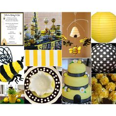 Bee Baby Shower, created by partiesbykristen on Polyvore