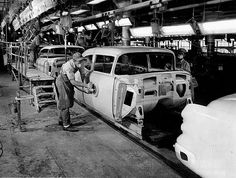 vintage chevrolet assembly line photos - Google Search