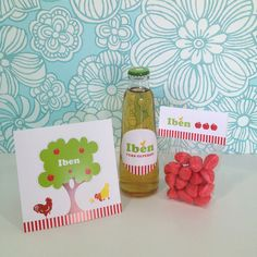 Geboortekaart + doopsuiker Iben // Birth card + favors Iben by Ndruk.be