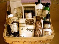 Organic Skin Care Gift Basket Handmade Body Care. $45.00, via Etsy.