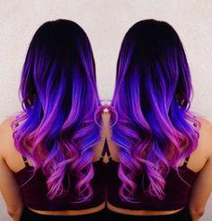 Mermaid hair Unicorn hair Rainbow hair by Toni Rose Larson @colordollz Pink hair Neon blue hair Purple hair Color Melt Hair Painting http://hotonbeauty.com