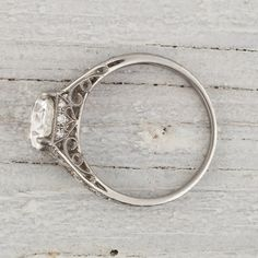 Vintage 1.81 Carat Edwardian Vintage Engagement Ring.