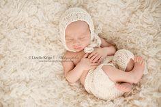 Newborn Set, Newborn Hat, Newborn Pants, Photo Prop, Cream by kirinati on Etsy https://www.etsy.com/listing/154695192/newborn-set-newborn-hat-newborn-pants