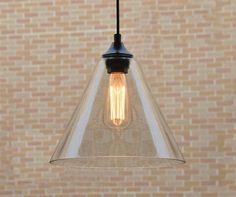 LOFT antique Clear Glass Penanrt lighting 0297 - HK Phoenix Lighting