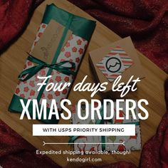 It's the final countdowwwwwnnn a 4 days left to order without expedited shipping at kendogirl.com 🎄🎁👏🏽
