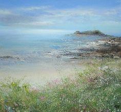 Sea Pinks at Godrevy - Amanda Hoskin
