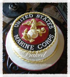 Outstanding 10 Best Marine Corps Cake Images Marine Corps Cake Marine Cake Personalised Birthday Cards Akebfashionlily Jamesorg