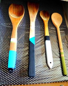 Home Zone: painted wooden spoons