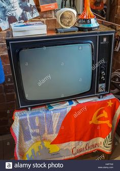 Download this stock image: Museum of Soviet everyday objects. Socialist Life Museum, all the exhibits from the distant Soviet past, is situated in a commun - H4P7H0 from Alamy's library of millions of high resolution stock photos, illustrations and vectors.