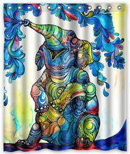 New Unique Design Bath Curtain Custom Art Elephant Shower Curtain 60x72 Inch