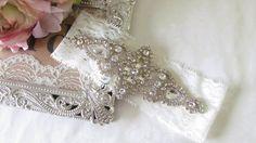 Bridal Garter / Wedding Garter / Rhinestone by MarieandAntoinette, $30.00